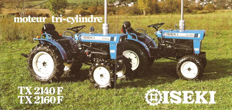 ISEKI en 1967 TX 2140F et TX 2160F